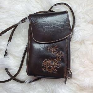 Brown Jeun Bang Crossbody Wallet